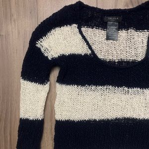 Aritzia Talula Knit Sweater Blue & White Stripes